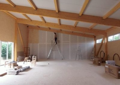 Construction du Jiyuseikan Dojo à Paliseul